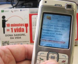 Suscríbete a SMS Avisos a Donantes Cordoba
